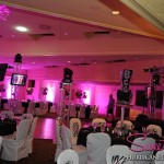 Sweet 16 uplighting by Hurricane Productions