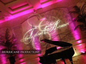 Wedding Monogram Gobo Name in Lights