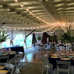 Rutgers Gardens Pavilion Decorated for a Wedding