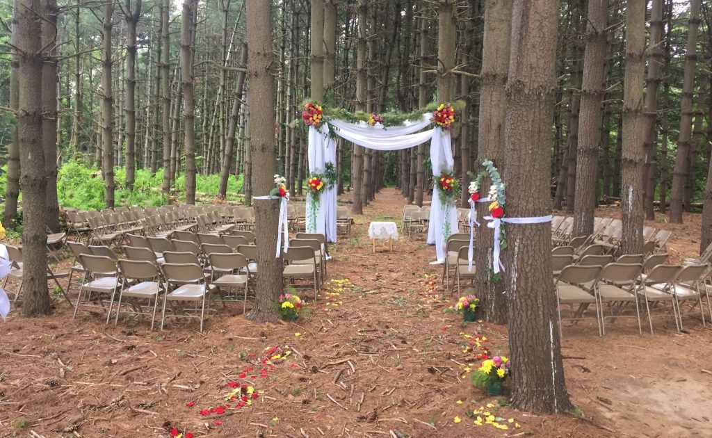 Pine Forest Ceremony at Rutgers Gardens