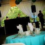 DJ in Pavilion at Rutgers Gardens Wedding
