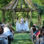 Wedding Ceremony at Rutgers Gardens