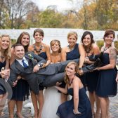 Bridesmaids With The Groom