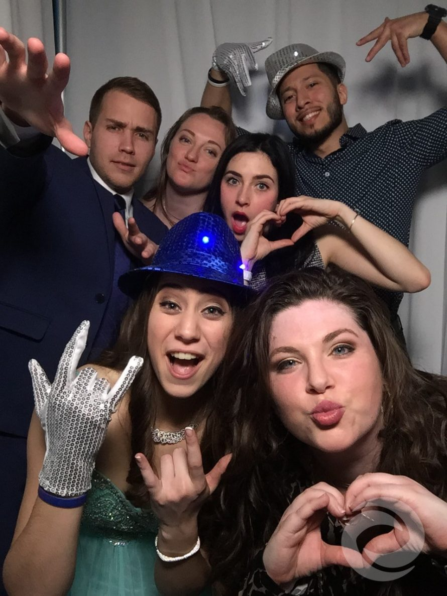 pines manor sweet 16 photo booth