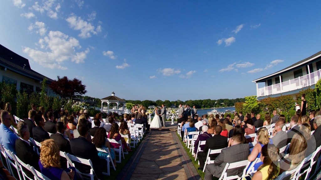 crystal point yacht club wedding ceremony