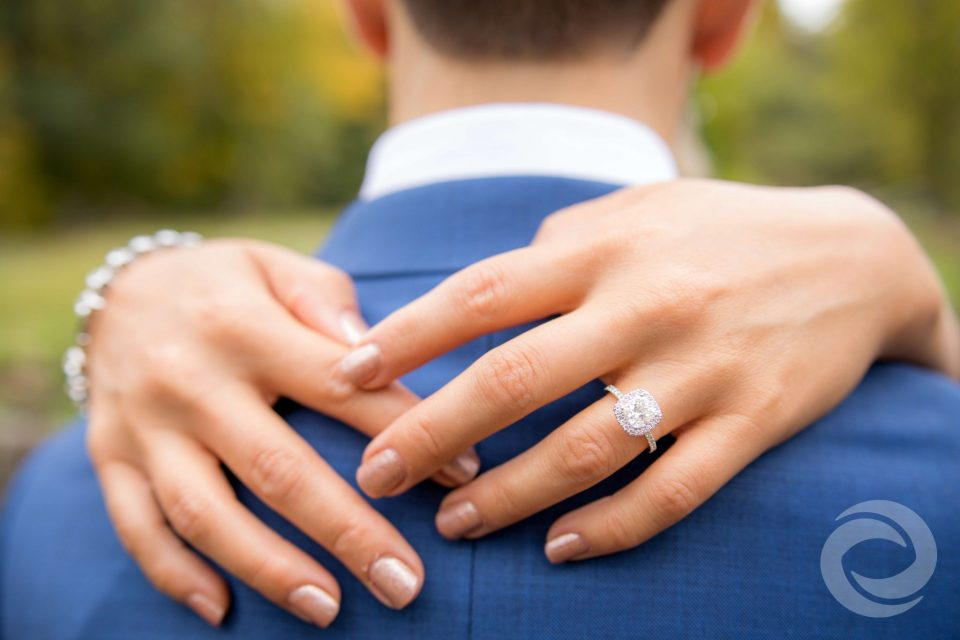 finding your perfect wedding vendors | close up of woman's hands with engagement ring