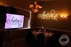 name-in-lights and animation Courtyard Banquet