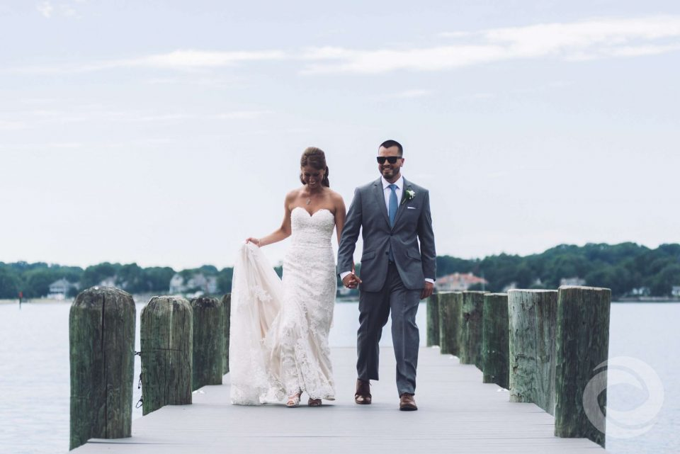 Clark's Landing Yacht Club waterfront wedding