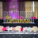 kate spade themed sweet 16