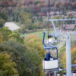 Mountain Creek Gondola Ski Lift Wedding Photo