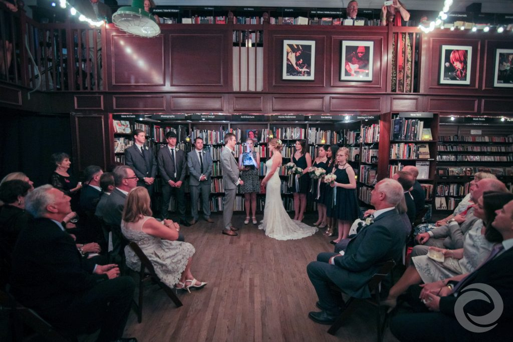 library wedding ceremony