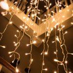 string lights hanging from ceiling