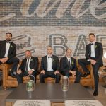 groomsmen stone house at stirling ridge wedding