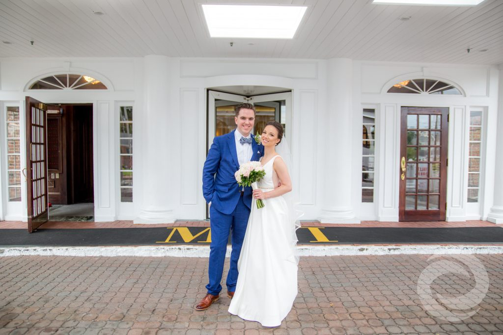 the Molly pitcher inn bride and groom