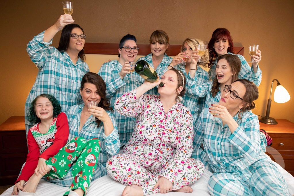 The Manson on Main Street Wedding Bridal Prep Pajamas